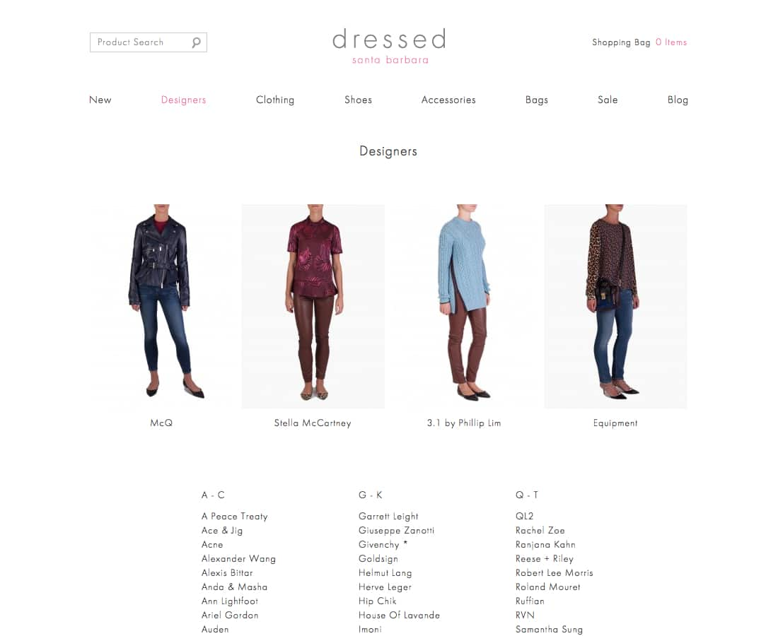 shop dressed online for designer clothing by 3.1 Phillip Lim, the Row, Helmut Lang, Iro, Equipment, Stella McCartney, Givenchy, and Alexander Wang.