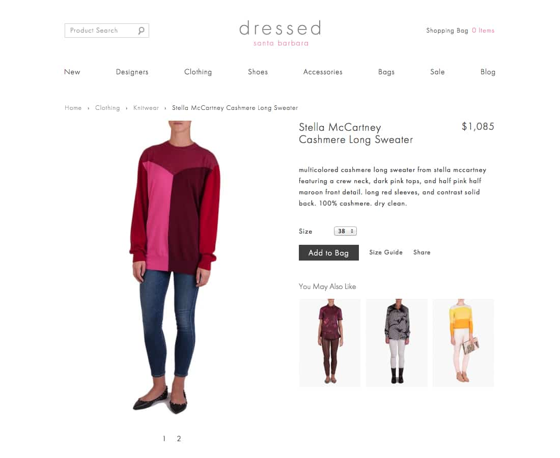 Shop clothing and cashmere sweaters from Stella McCartney, Proenza Schouler, 3.1 Phillip Lim, The Row, Yigal Azrouel, Roland Mouret, Equipment, J Brand.