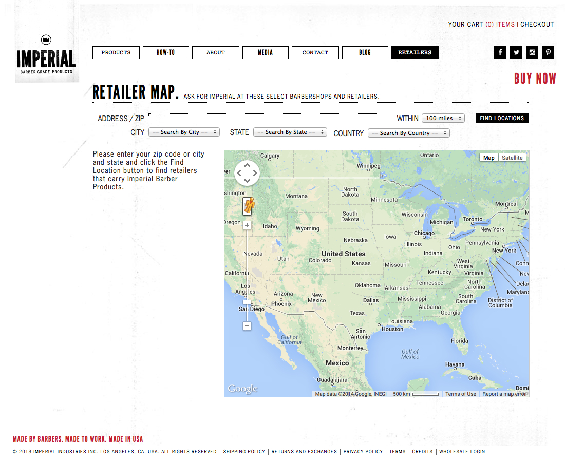 Retailer Map. Ask For Imperial At These Select Barbershops And Retailers. | Imperial Test