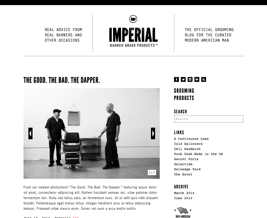 The Good. The Bad. The Dapper. | Imperial Test