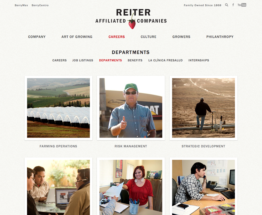 Departments | Reiter Affiliated Companies