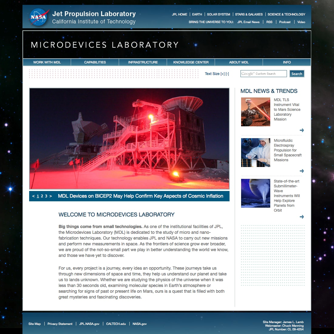 Microdevices Laboratory | NASA Jet Propulsion Laboratory California Institute of Technology