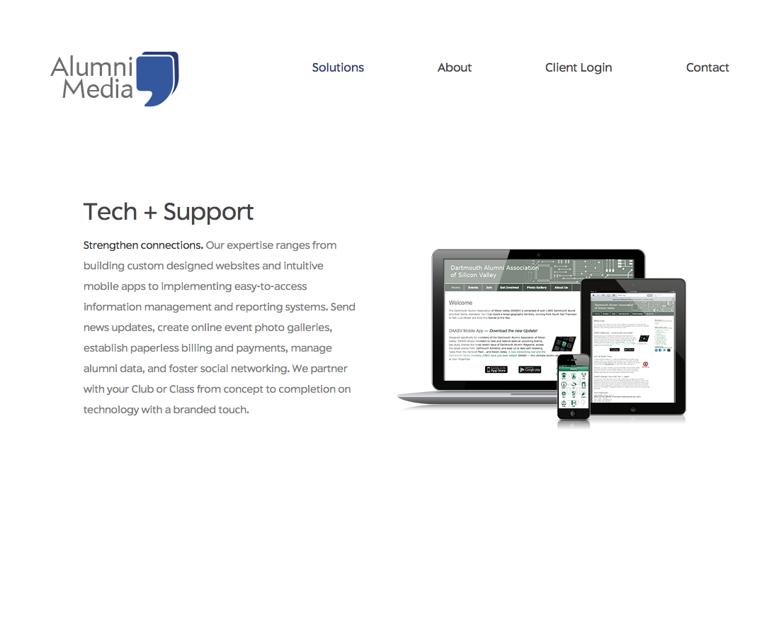 Tech + Support | Alumni Media